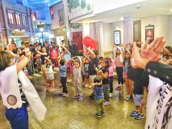 Teacher Georcelle Dapat of G-Force teach KidZania kids how to dance.