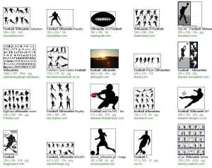 "Search Results on ""Football Silhouette"""