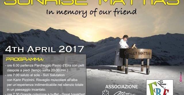 Sunrise Mattias La Skieda 2017 e lettera aperta agli operatori