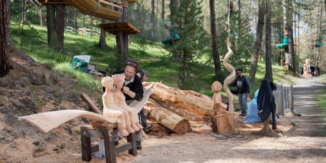 Torna a Livigno Wood'n'Art: il Simposio internazionale di sculture di legno organizzato da Vania Cusini