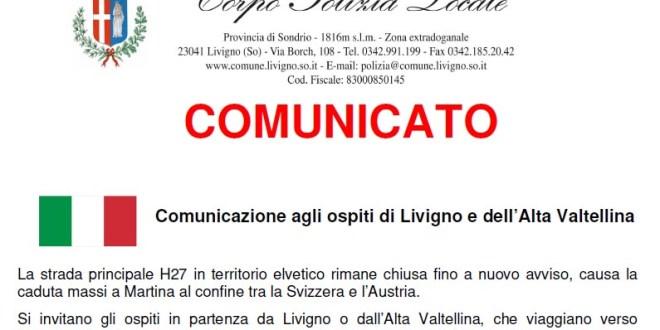 Indicazioni stradali per raggiungere l'Austria da Livigno