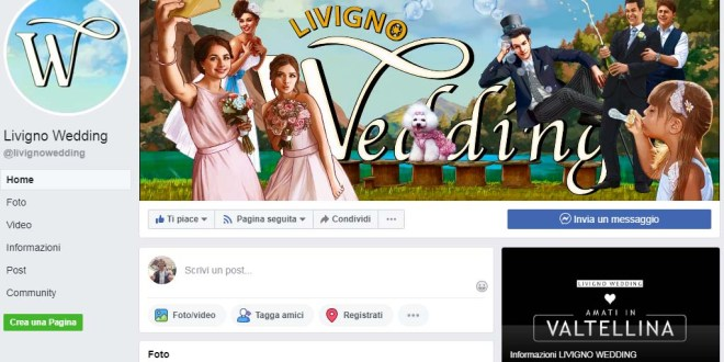 "Scopri la pagina facebook ""Livigno Wedding"""