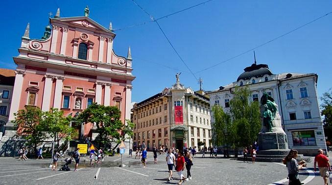 Ljubljana: Preseren Square plein
