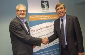 David Rutley MP with Tim Shercliff, Chairman of Enterprising Macclesfield