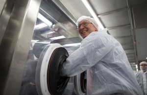 Lord Prior visits AstraZeneca's new £120m manufacturing plant
