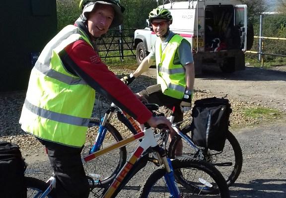 Volunteer rangers Peter Woodland (front) and David Bratley