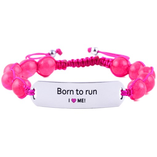 Born To Run - Ruby Pink Jade Bracelet