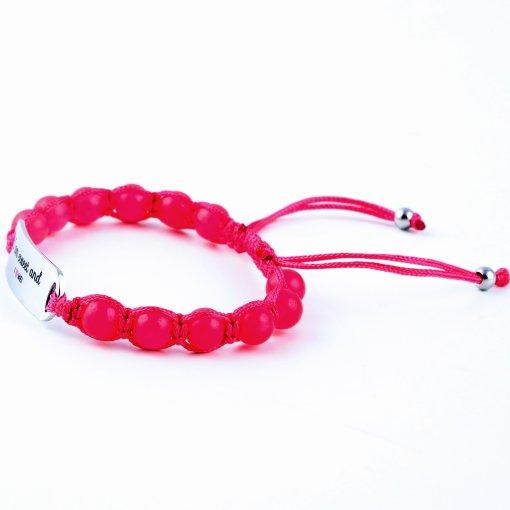 I Am Sweet And I Love Me - Ruby Pink Jade Bracelet