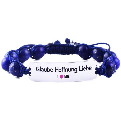 Glaube Hoffnung Liebe - Marine Blue Lazurite Bracelet