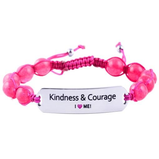 Kindness & Courage - Ruby Pink Jade Bracelet