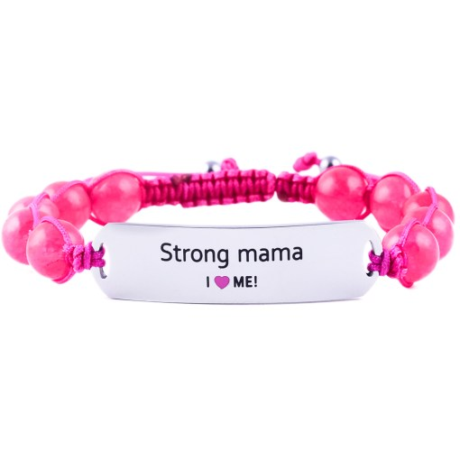 Strong Mama - Ruby Pink Jade Bracelet