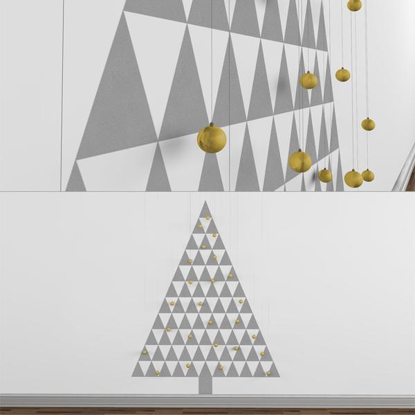Modern Christmas Tree Decals