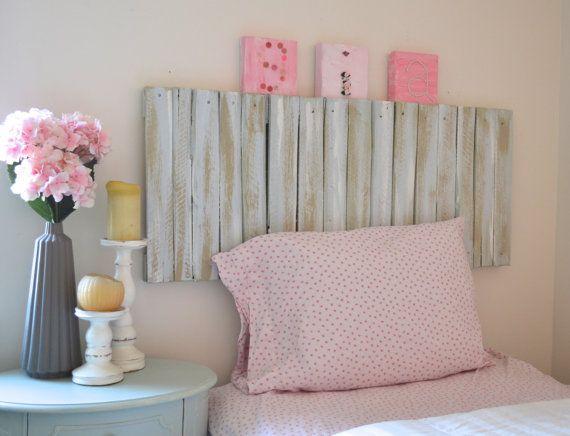 Propuestas de cabeceros de cama hechos con palets i love for Cabecera individual infantil