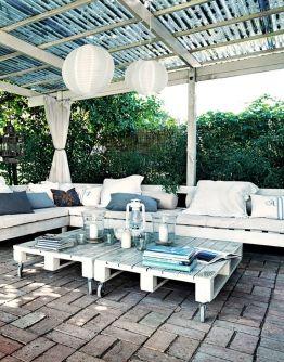 terrazas de palet con encanto - Terraza Con Palets