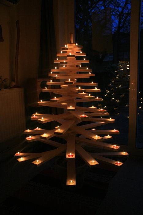 rboles de navidad muy econmicos y originales con palets ii