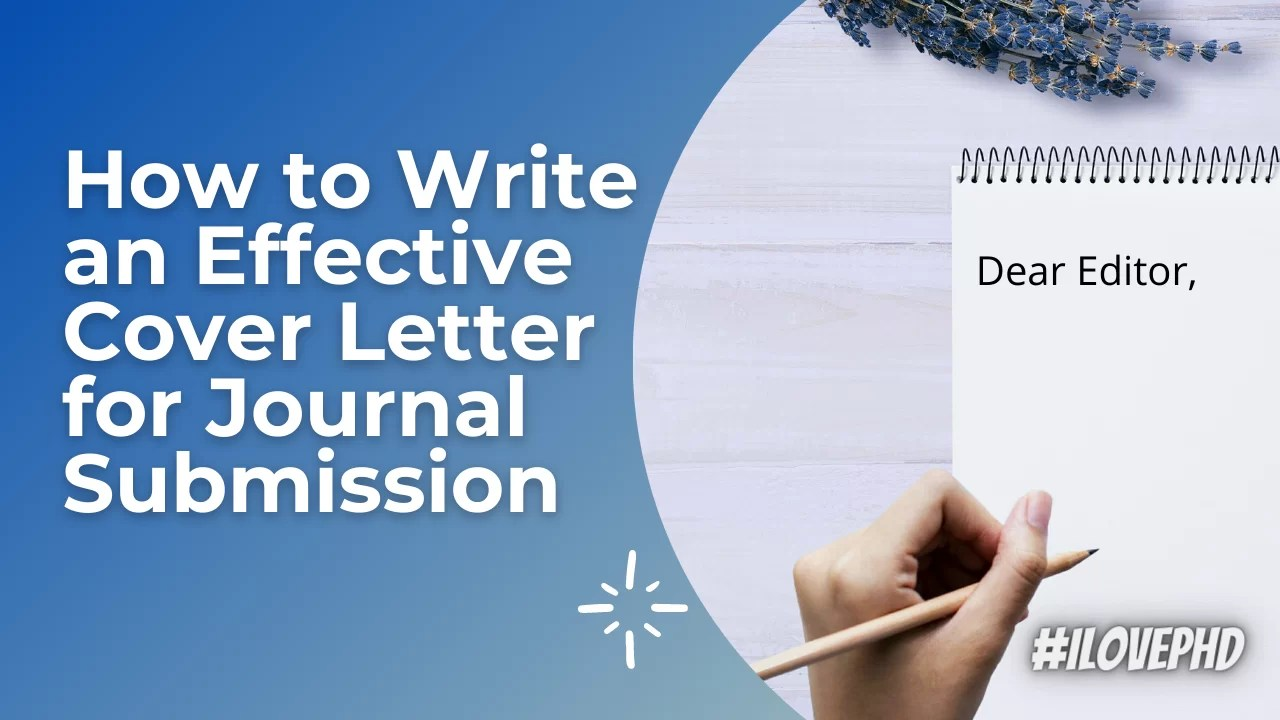 How To Write An Effective Cover Letter For Journal Submission Example Cover Letter Ilovephd