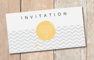 impression carton invitation i love print