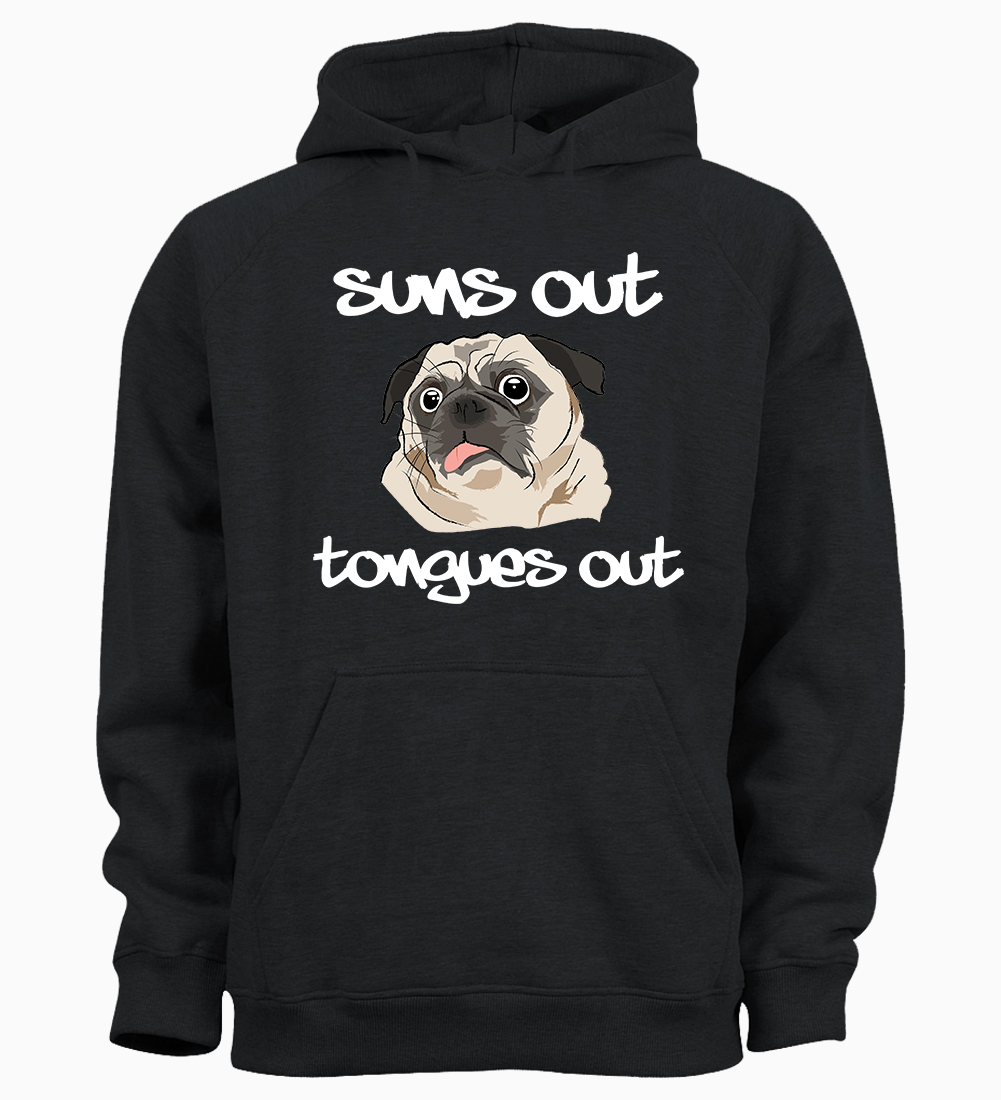 Pug Unisex Sons Out Tongues Out Hoodie Available In 4