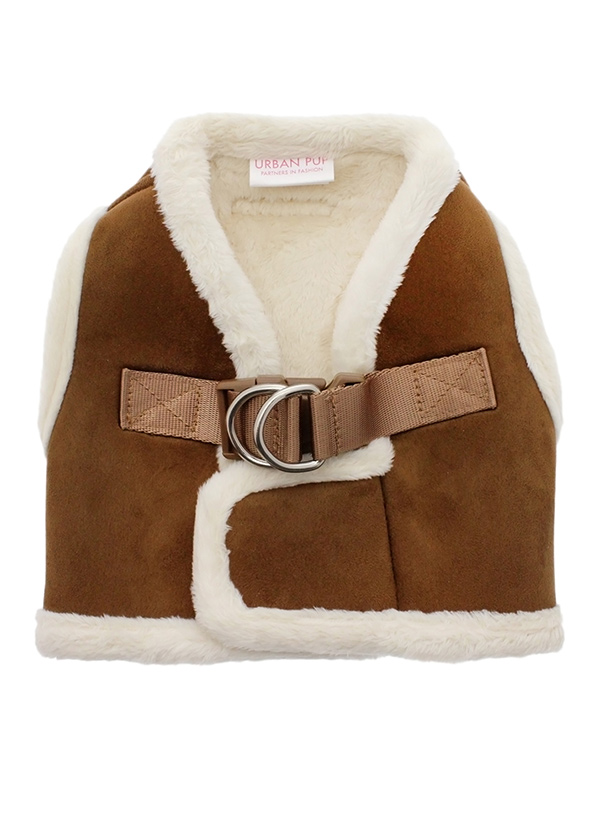 Urban Pup Luxury Brown Amp Cream Faux Shearling Harness I