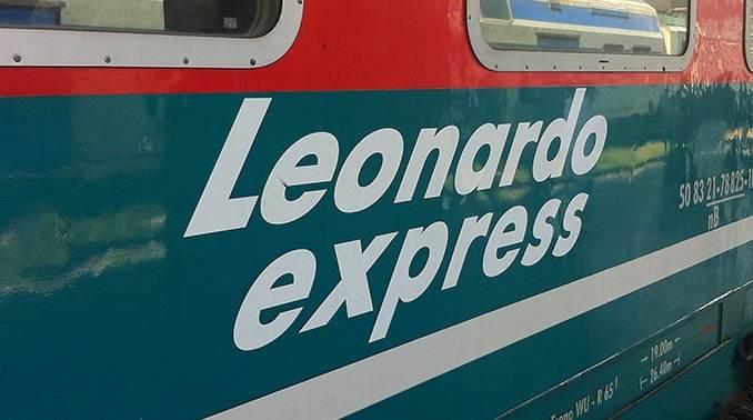 Leonardo Express op vliegveld Fiumicino