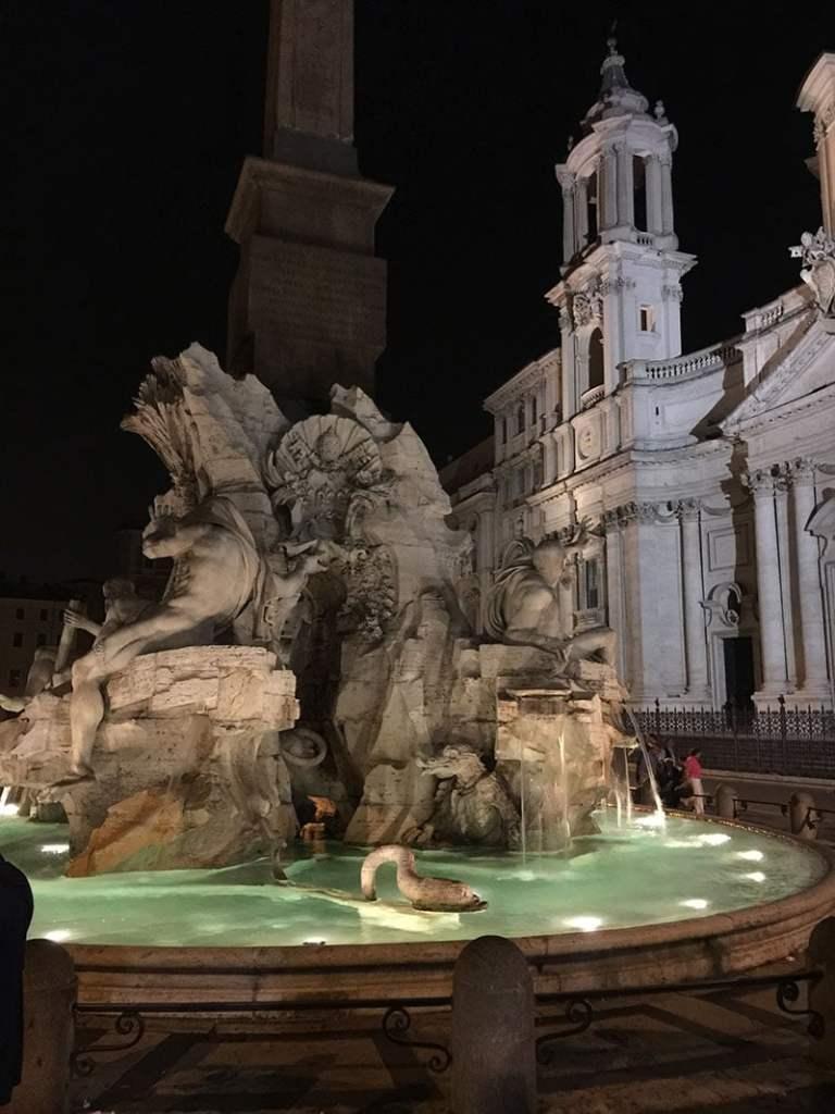 Piazza Navona La Fontana dei Quattro Fiumi