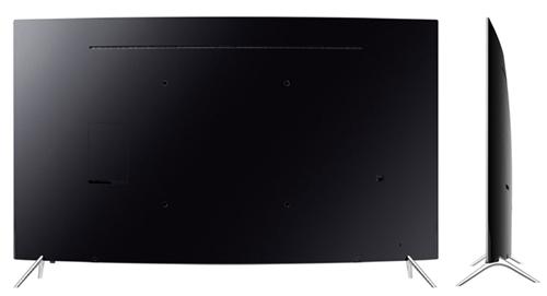 Smart TV Curbat Samsung KS7500 4K UltraHD -spate si profil