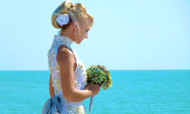 Melinda Graham's Seashell Wedding Dress