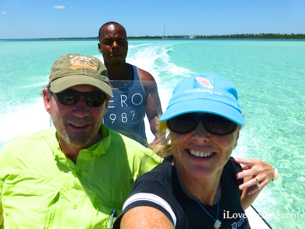 Joe-L grand bahamas shelling guide with pam and clark from Sanibel