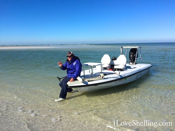 Shelling guide Captain Paul Hajash Clearwater Beach Florida