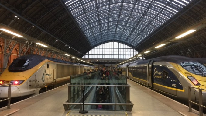 Eurostar op station St. Pancras International ©Treinennieuws.nl