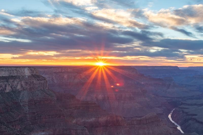 Grand Canyon Arizona zonsondergang