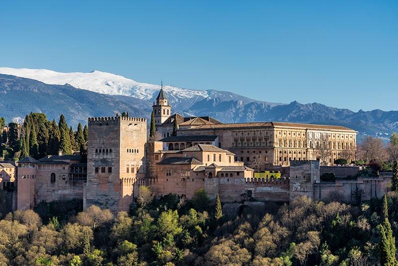 Alhambra in Granada Spanje