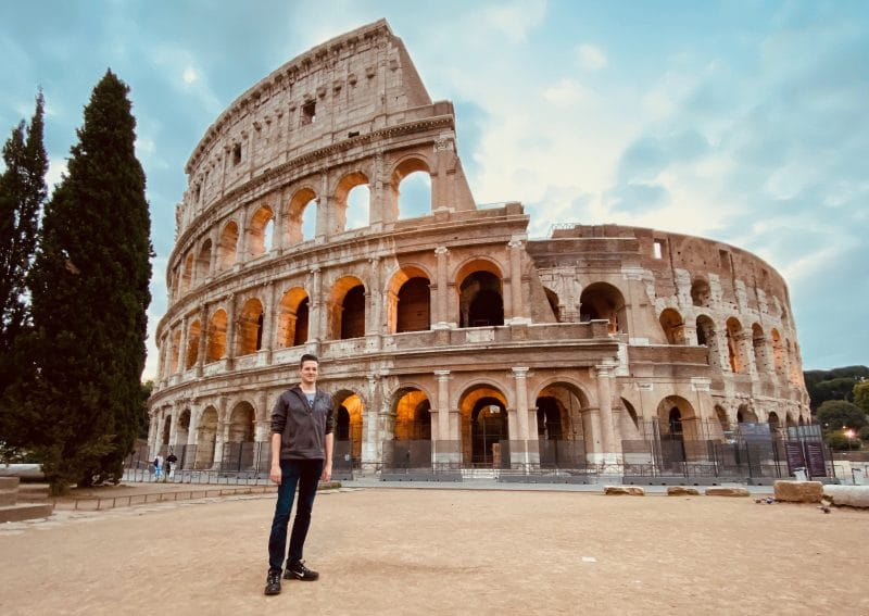 Colosseum met iPhone 11 pro ultra-wide angle lens