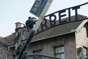 Auschwitz Arbeit Macht Frei bord
