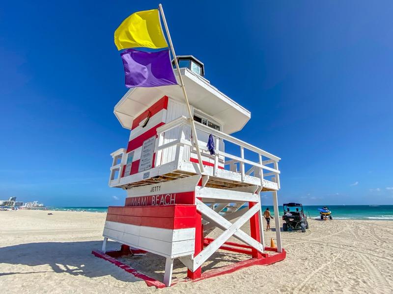 Miami Beach strandwacht huisje
