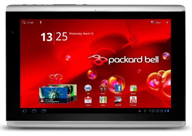 Tablette Packard Bell Liberty Tab 10 pouces Android HoneyComb 4