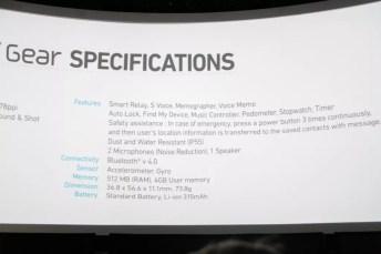 Samsung Galaxy Gear : caractéristiques, photos et vidéo de prise en main (poignet !) 10