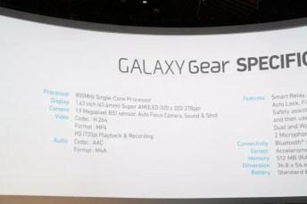 Samsung Galaxy Gear : caractéristiques, photos et vidéo de prise en main (poignet !) 11