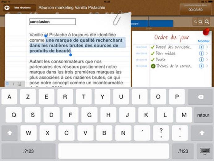 [Nouveauté] Facilitez vos réunions avec l'application iTakeNotes sur iPad 4