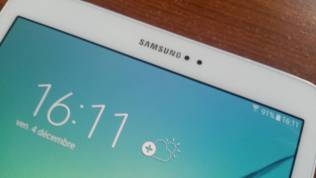 Test et avis Tablette Samsung Galaxy Tab S2 camera avant