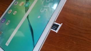 Test et avis Tablette Samsung Galaxy Tab S2 micro SD ouvert