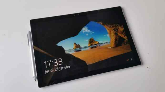 Test et avis Micrososft Surface Pro 4 veille