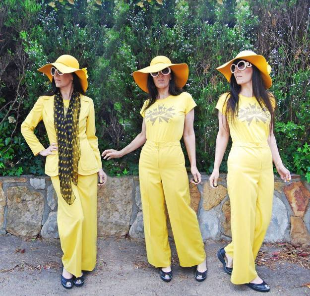 Sarah found this fabulous 1970s yellow suit!