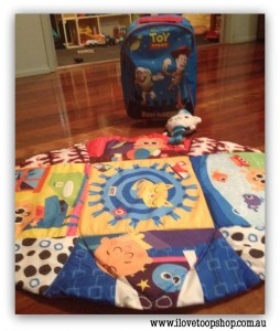 "Sall is ""usually one for a vintage find, I was thrilled to score a Toy Story bag a Captain Barnacle soft toy and a Lamaze play mat that folds into a carry bag. Total was $8!!! Very pleased with myself."""