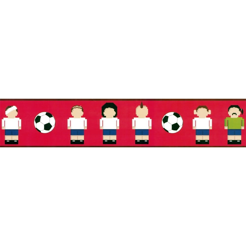 Designer Selection Football Pixel Men Self Adhesive