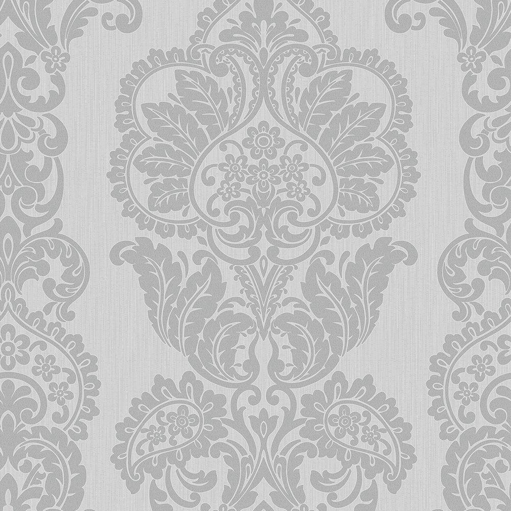 Fine Decor Rochester Damask Textured Glitter Wallpaper