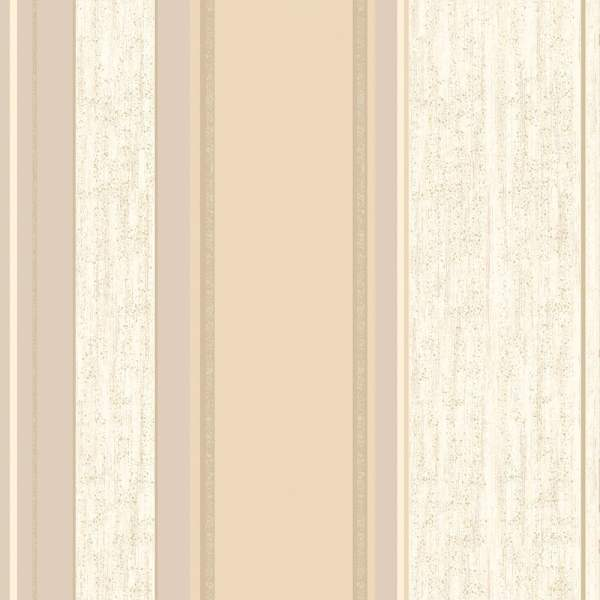 Synergy Striped Wallpaper Soft Gold Cream Beige ...