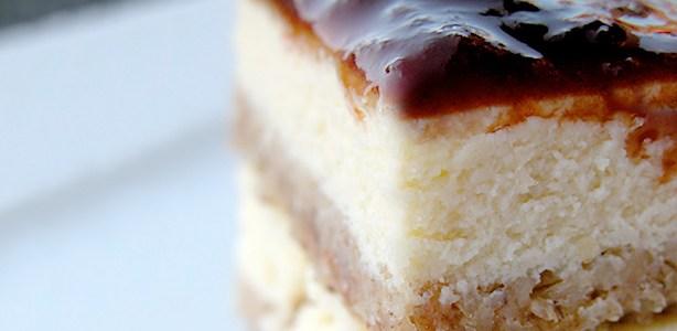 Cubo di cheesecake alla ricotta
