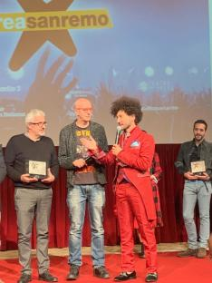 Gianni Testa alla cerimonia di premiazione Area Sanremo 2019
