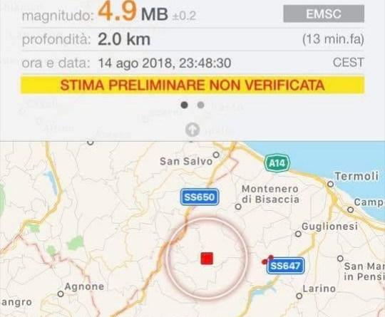 ULTIM'ORA: FORTE SCOSSA DI TERREMOTO IN ITALIA